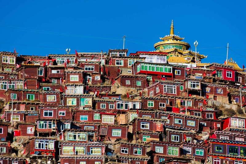 Institut de bouddhiste de sedums photographie stock