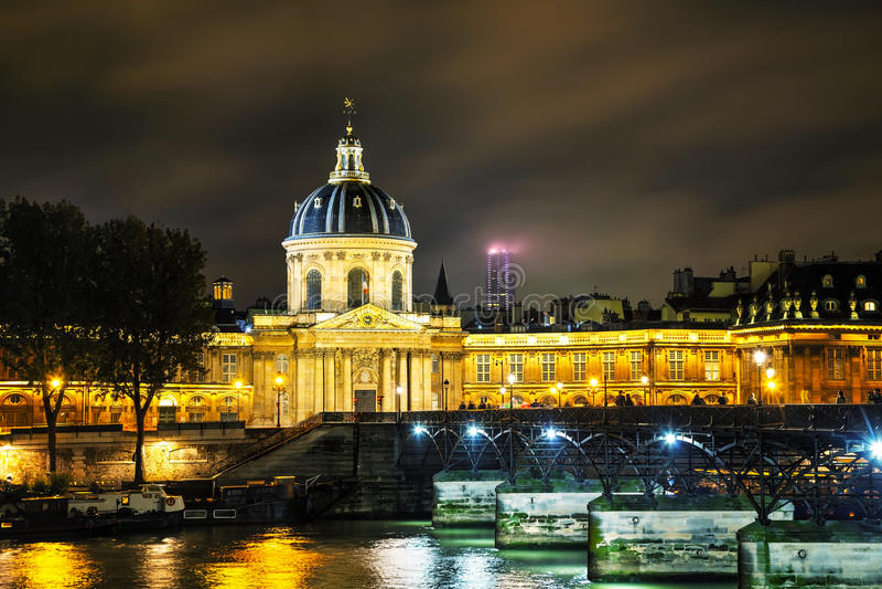 Institut de Francja budynek w Paryż, Francja obrazy royalty free