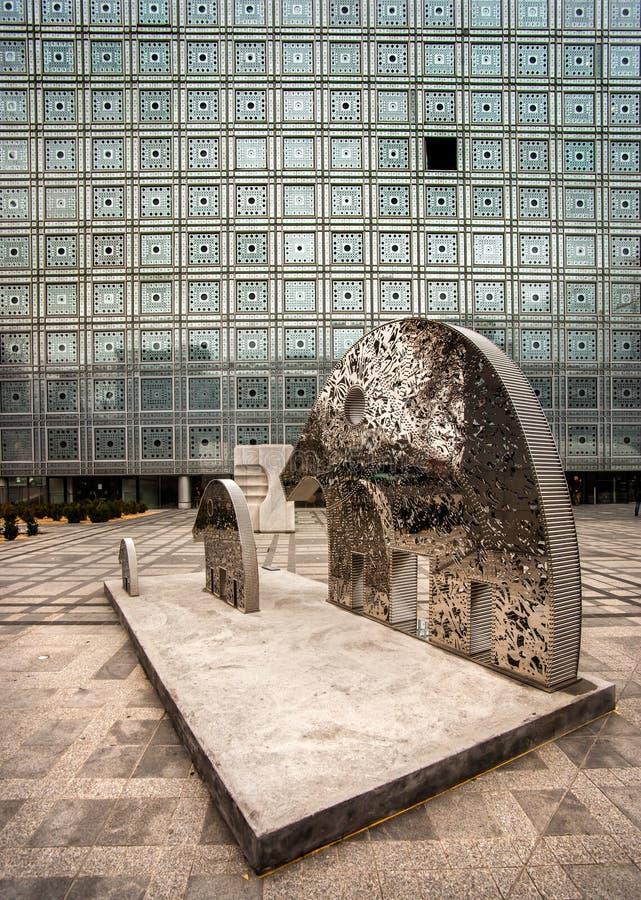 Institut du Monde Arabe, Parijs stock afbeelding