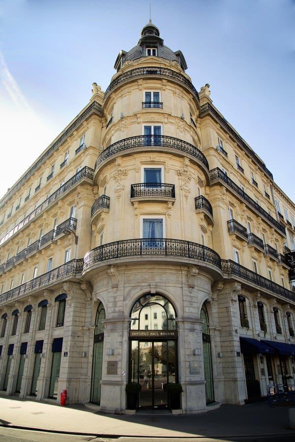 Institut Paul Bocuses i Lyon, Frankrike royaltyfri foto