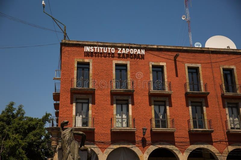 Instituto萨波潘大厦在瓜达拉哈拉 免版税图库摄影