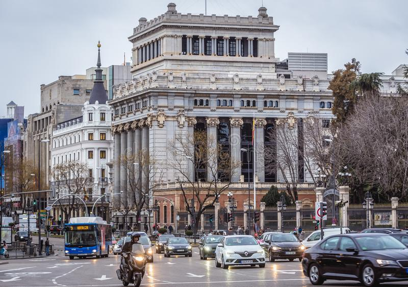 Instituto Cervantes em Madrid foto de stock
