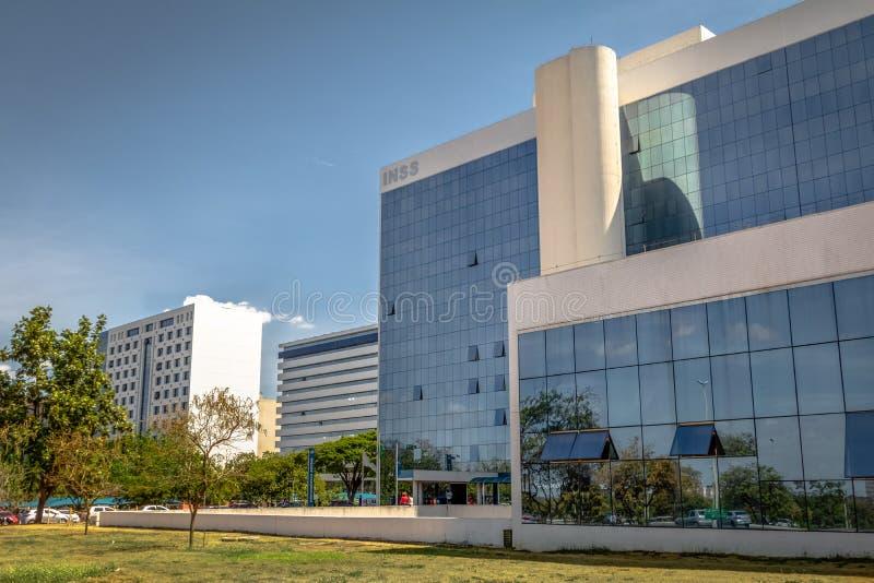 Instituto da segurança social - Instituto Nacional faça o Social de Seguro ou o Social de Previdencia - INSS - Brasília, Distrito fotografia de stock