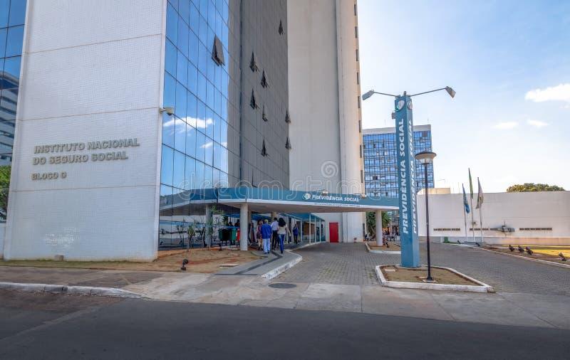 Instituto de la Seguridad Social - Instituto Nacional haga el Social de Seguro o al Social de Previdencia - INSS - Brasilia, Dist foto de archivo