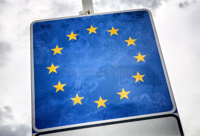 Instorting van de Europese Unie royalty-vrije stock foto's