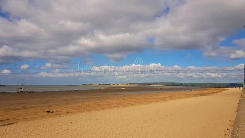 Instow is a village in north Devon, England. It is on the estuary where the rivers Taw. And Torridge meet, between the villages of Westleigh and Yelland and on stock photos