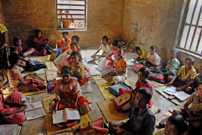 Instrução da vila em India fotos de stock royalty free