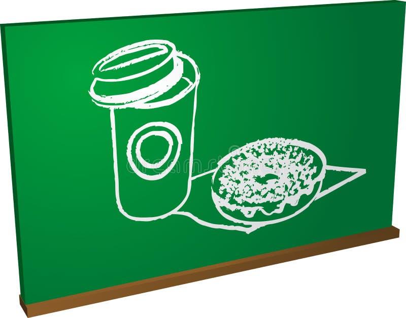 Instrução do alimento ilustração royalty free