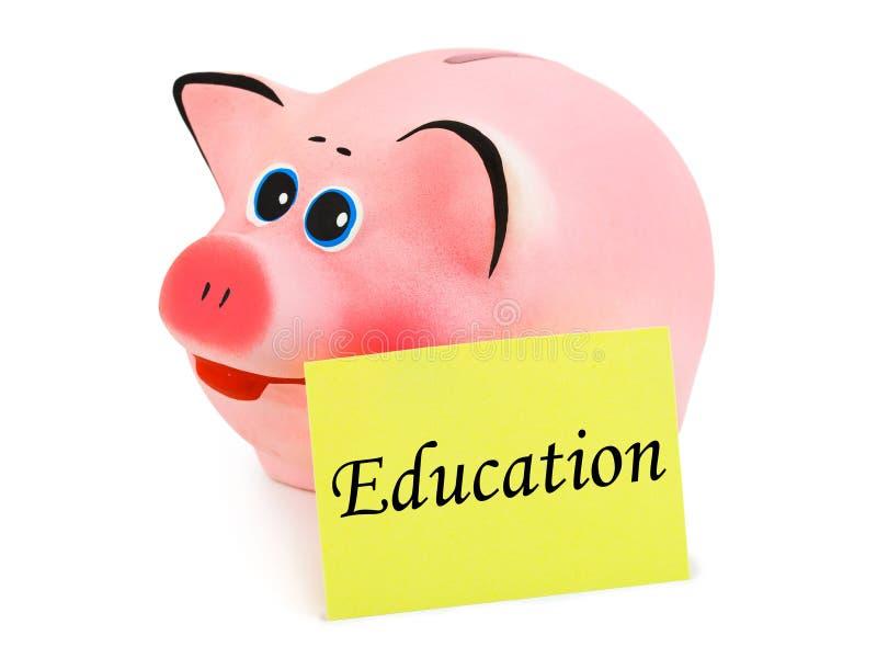 Instrução do banco Piggy e do papel imagem de stock
