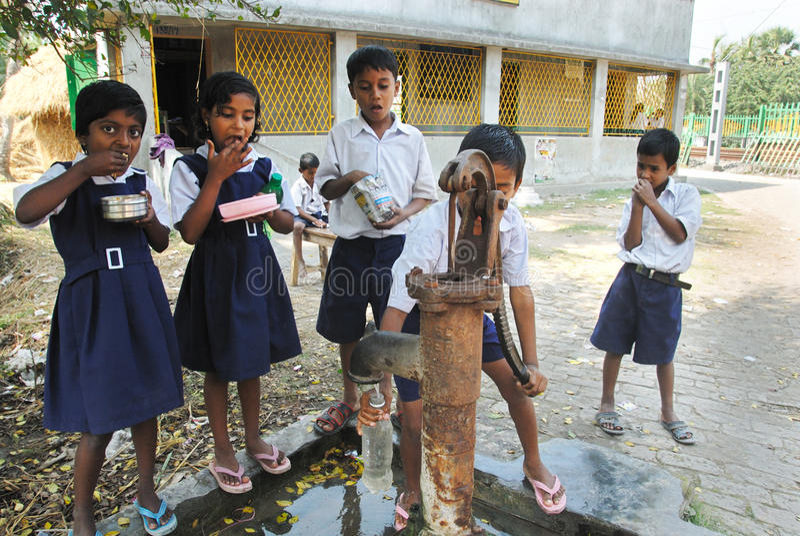 Instrução rural em India imagem de stock royalty free