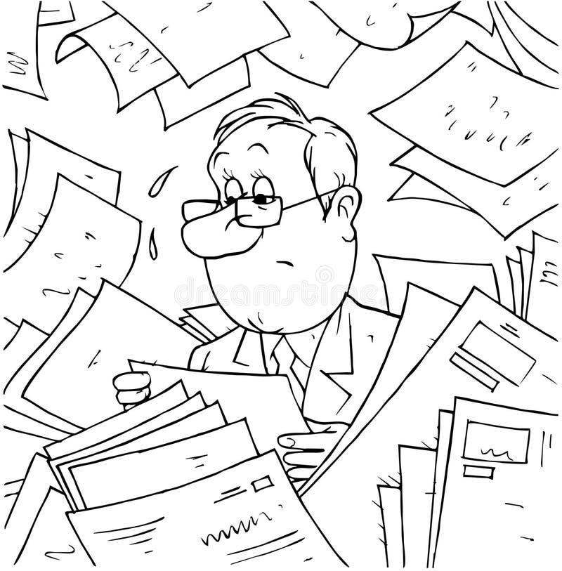 Instruções e diretrizes orientadoras ilustração stock