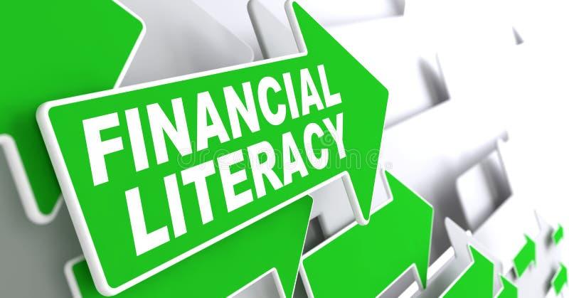 Instrucción financiera en flecha verde libre illustration