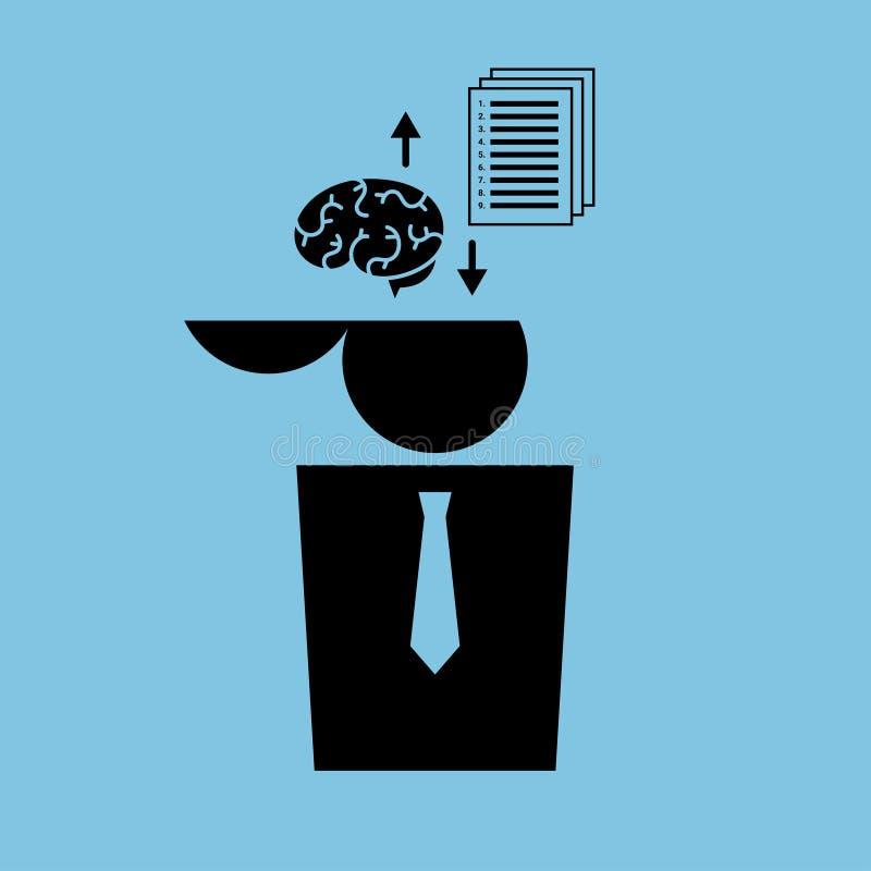 Instrucciones del oficinista ilustración del vector