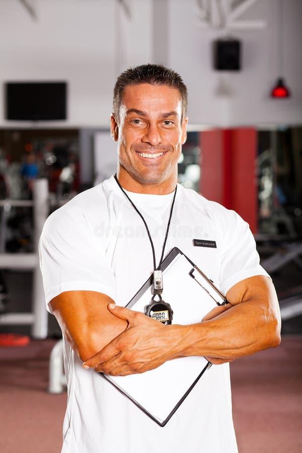 Instructeur de gymnastique professionnel images stock
