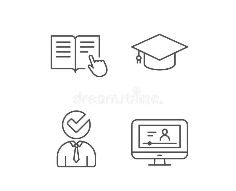 Instructies, Graduatie GLB en Videoleerprogramma royalty-vrije illustratie