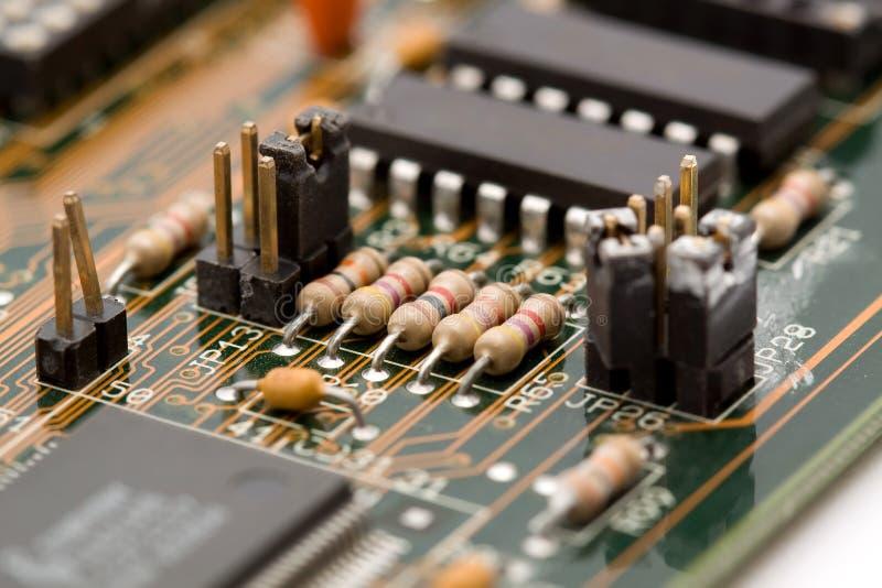 instruction-macro électronique de composants photographie stock
