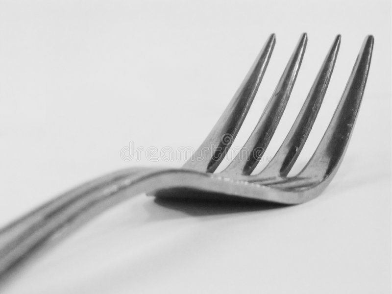 Instruction-macro #2 De Fourchette Images stock