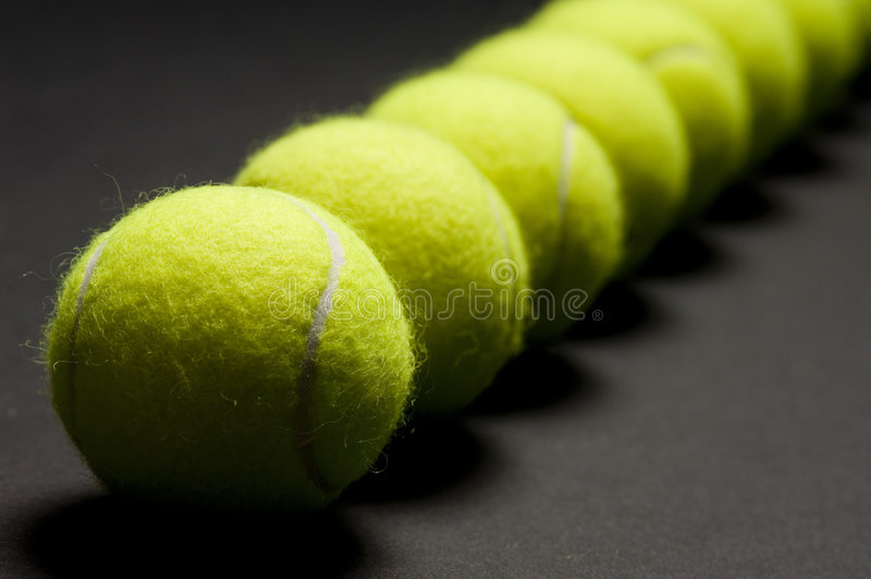 Instruction-macro 3 de billes de tennis photos stock
