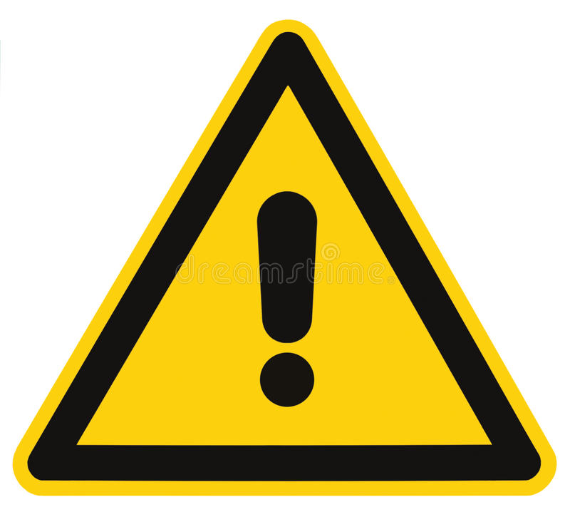 Instruction-macro d'isolement de signal d'avertissement de triangle de risque de danger illustration libre de droits
