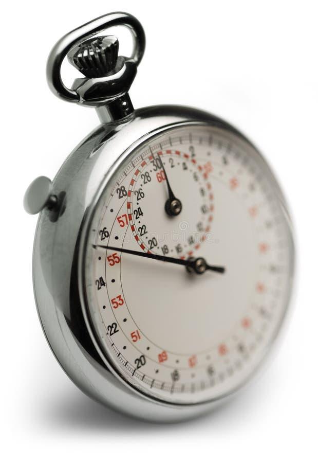 Instruction-macro de chronomètre photo libre de droits