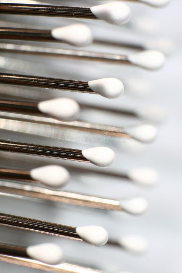 Instruction-macro de Hairbrush images libres de droits