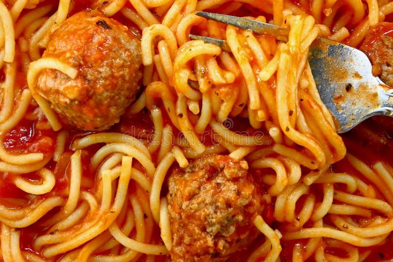 Instruction-macro de spaghetti images stock