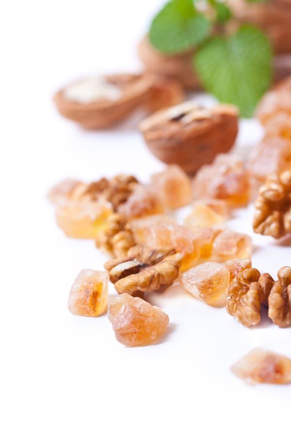 Instruction-macro de sucre de caramel images stock