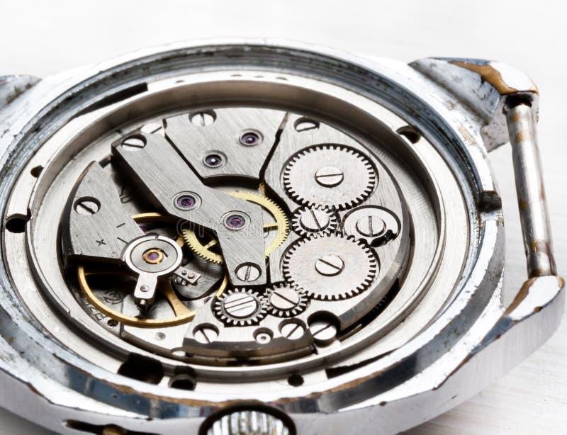 Instruction-macro de vieilles montres image stock