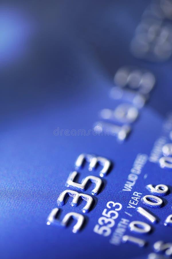 Instruction-macro par la carte de crédit images libres de droits