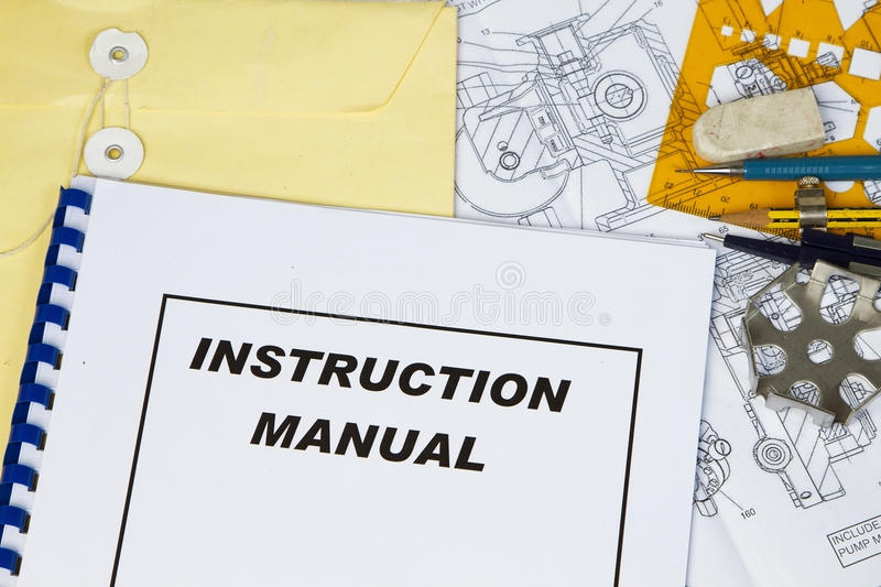Instruction Manual stock images