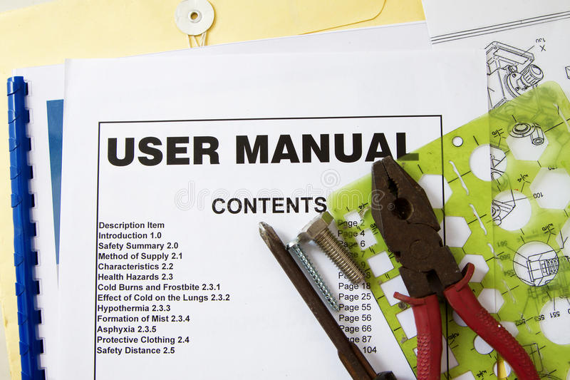 Instruction Manual stock photo