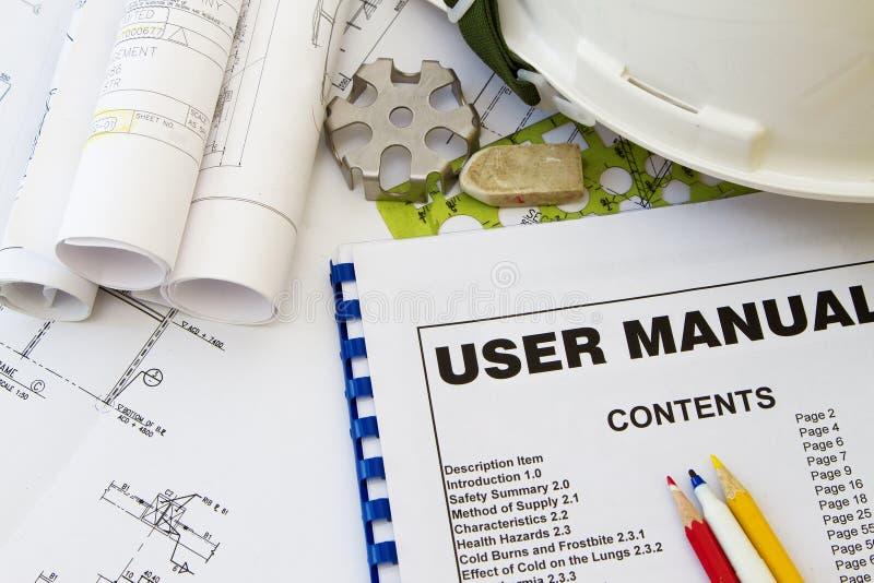 Instruction Manual stock image