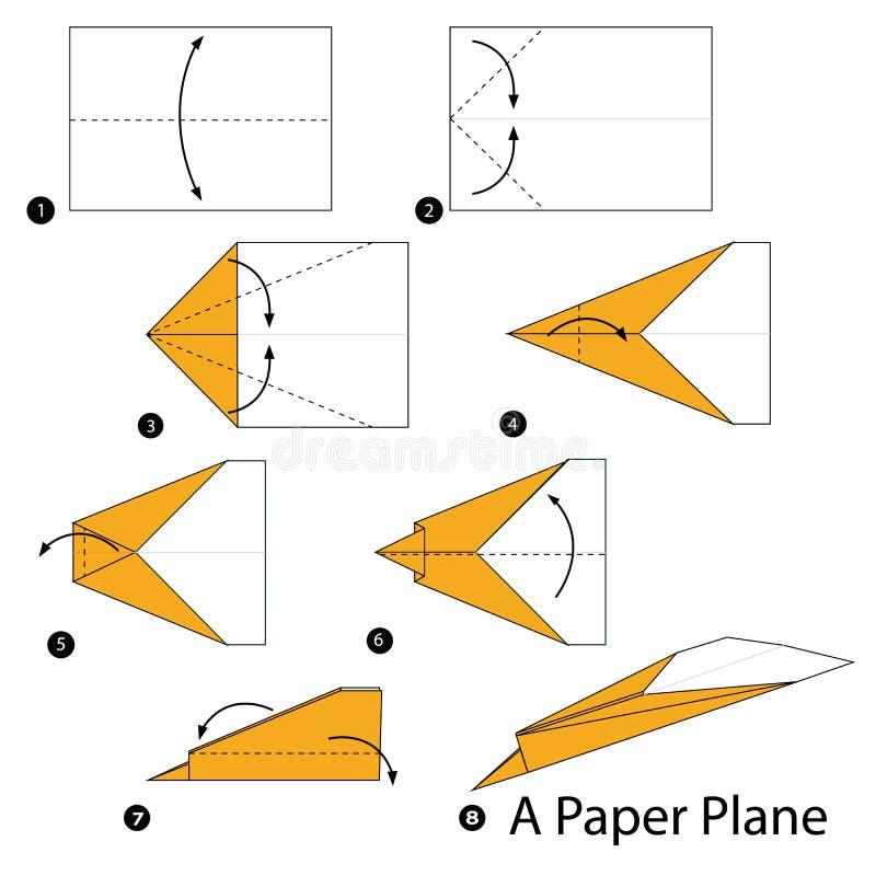 Instructions tape par tape comment faire origami un - Comment faire un porte avion en papier ...