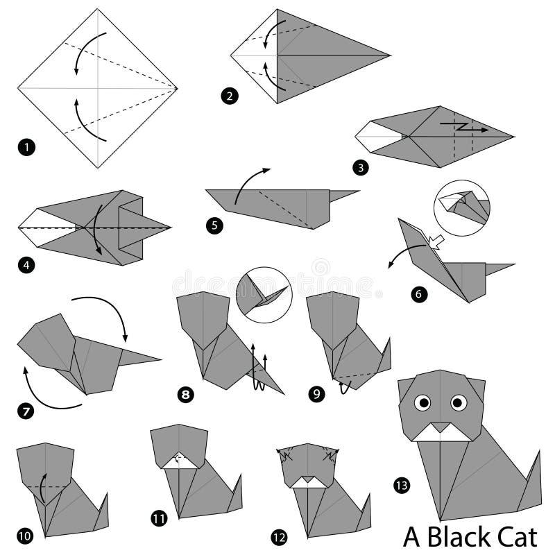 chat en origami facile. Black Bedroom Furniture Sets. Home Design Ideas