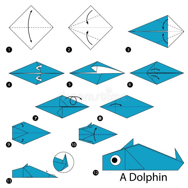 comment faire un origami dauphin. Black Bedroom Furniture Sets. Home Design Ideas
