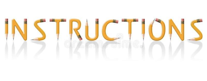 Instructions stock illustration