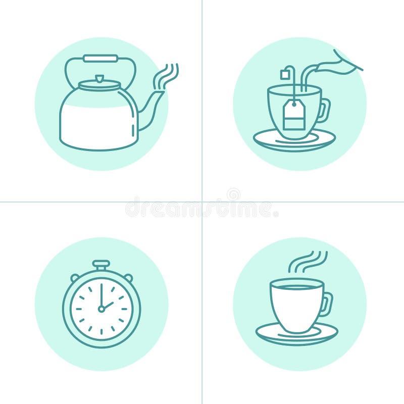 Instructions et guide d'infusion de thé illustration libre de droits
