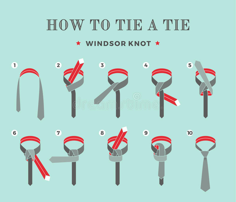 Instructions on how to tie a tie on the turquoise background of the download instructions on how to tie a tie on the turquoise background of the eight steps ccuart