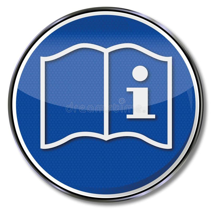Instructions, manuel et information illustration libre de droits