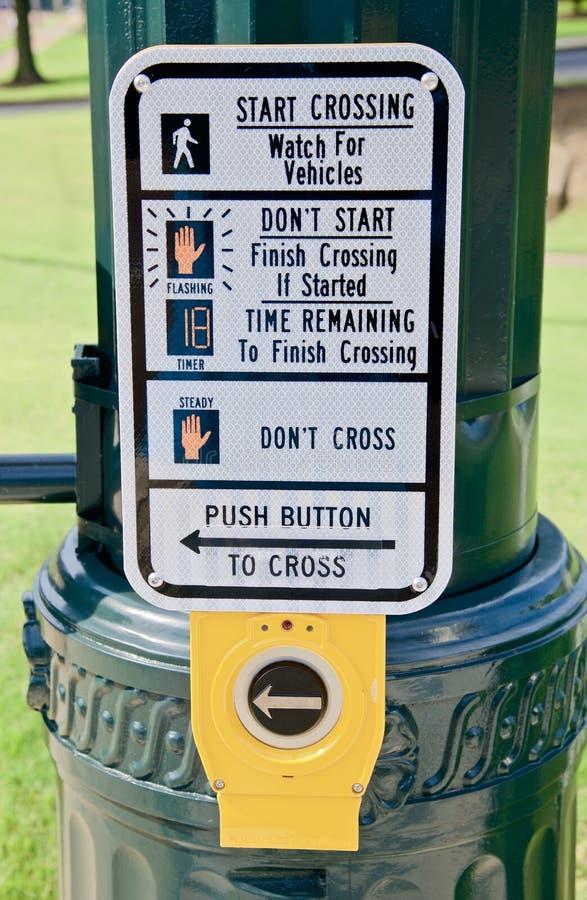 Instructions piétonnières de passage piéton photo stock