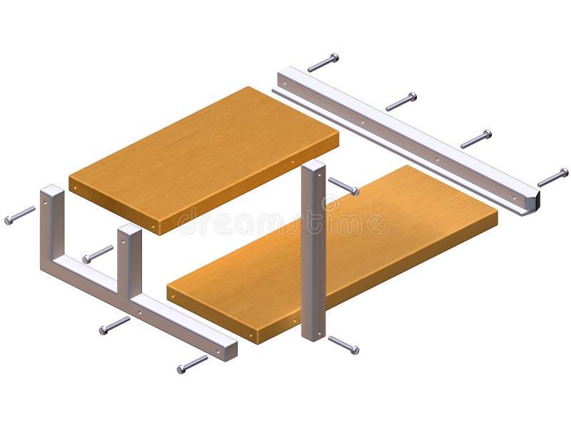 Instructions pour l'élément impossible d'étagère illustration de vecteur