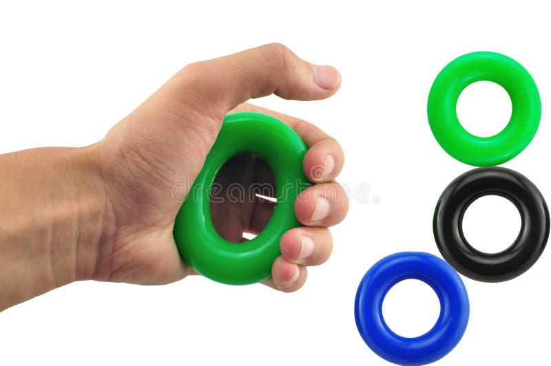 Instructor de la fuerza del antebrazo del finger de 3 del PCS del apretón agarradores de la mano fotografía de archivo libre de regalías