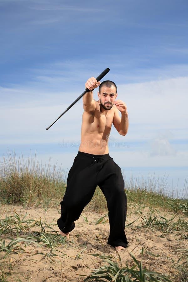 Instructor de los artes marciales imagen de archivo libre de regalías