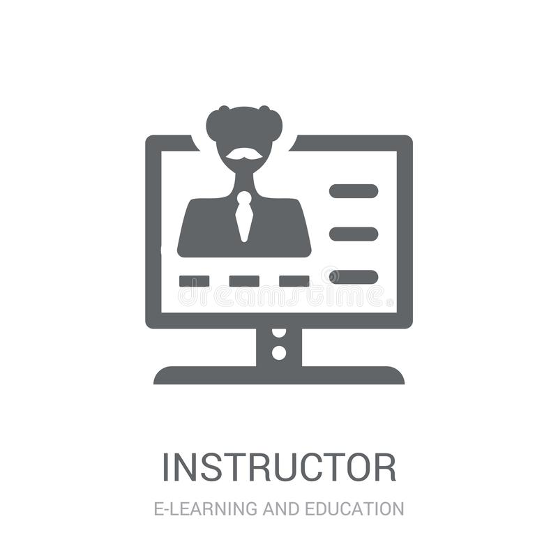 Instructor icon. Trendy Instructor logo concept on white background from E-learning and education collection stock illustration