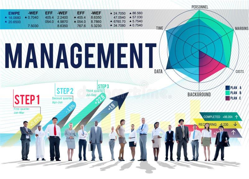 Instructor que entrena autoritario Concept de la gestión stock de ilustración
