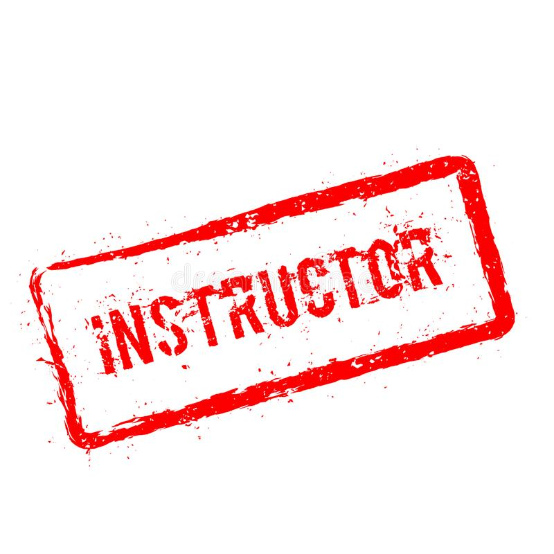 Instructor red rubber stamp isolated on white. royalty free illustration