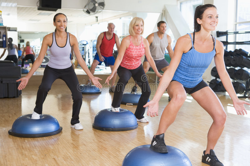 Download Instructor Taking Exercise Class At Gym Stock Photo - Image: 7231136