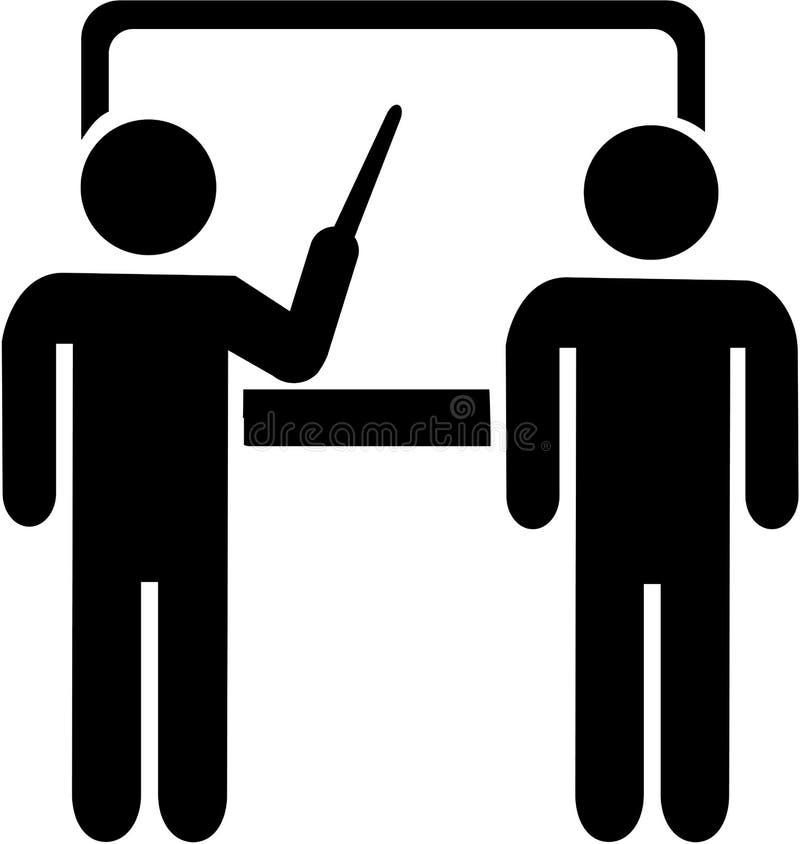 Instructor teacher icon stock illustration