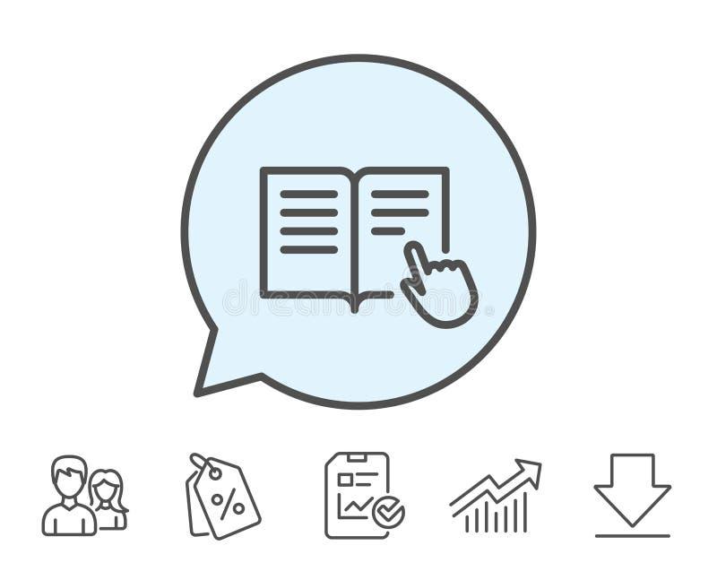 Instrukci książki linii ikona Edukacja symbol ilustracja wektor