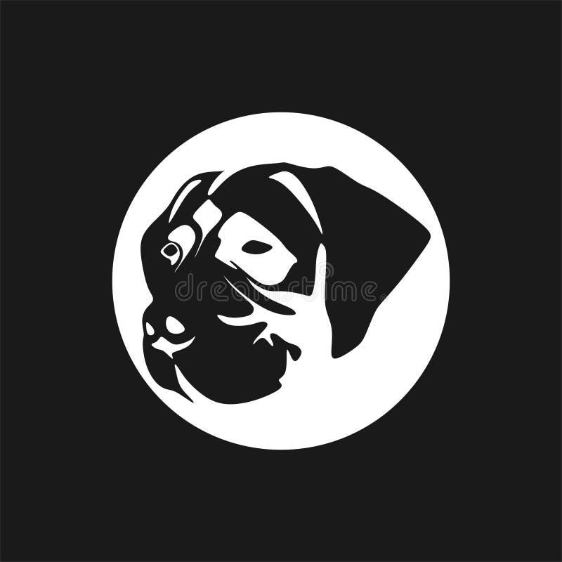 Instruktion för AFador dog head-logotyp fotografering för bildbyråer